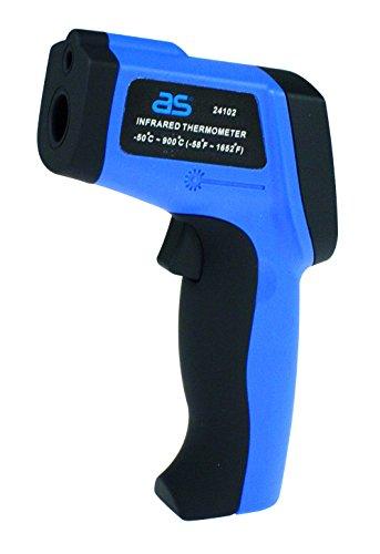 as - Schwabe Profi Infrarot Thermometer/Pyrometer, berührungslose Messung der Temperatur von -50 bis 900 Grad Celsius, 1 Stück, blau, 24102 (Laser Mit Grill-thermometer)