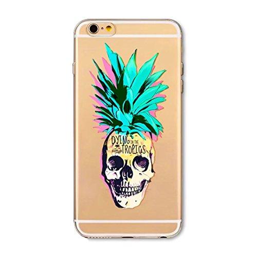 Cover iPhone 6/iPhone 6s, KSHOP silicone cover con Disegno di tema di natale, sottile morbide bumper custodia per iPhone 6/iPhone 6s - ophone renna di cartone animato shuiguo15