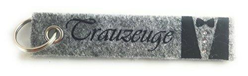 Feminine Anzug (Schlüsselanhänger aus Filz mit der Flockdruck-Aufschrift