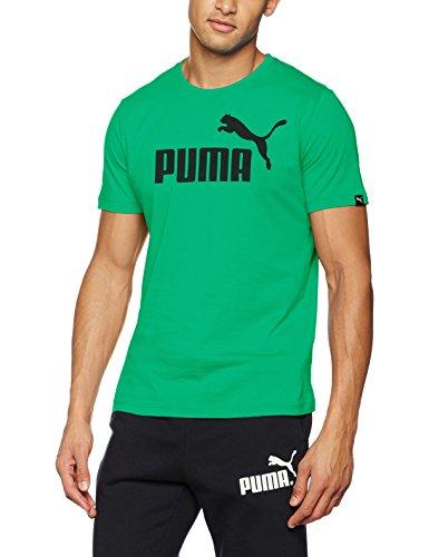 Puma Ess No.1 Tee, Maglietta Uomo Verde acceso
