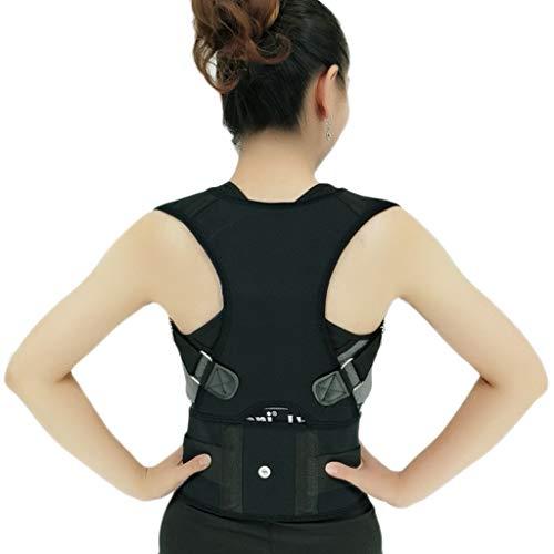Correa de Soporte Cinturón de Soporte Correa correctora for Lumbar Espalda Cuidado del Hueso Brace Postura Corrector Corsé Masculino for Mujeres Unisex (Color : E, tamaño : L)