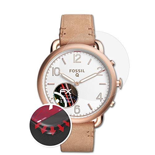 atFoliX Schutzfolie passend für Fossil Q Tailor Folie, entspiegelnde und Flexible FX Displayschutzfolie (3X)