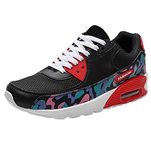 Scarpe da Fitness Sneakers Scarpe da Ginnastica Running Sneakers Scarpe Running Sportive Sneakers Sneakers Running Atletico Palestra Scarpe Sport (40 EU,Rosso)