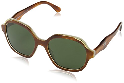 Prada Damen 0PR06US TH71I0 52 Sonnenbrille, Weiß (Light Havana/Striped White/Green),