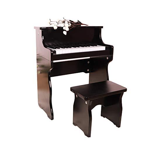 Lingling-tastiera piano per bambini 30 tasti per principianti in legno piccolo pianoforte per bambini giocattoli per bambini 0-8 anni vecchio pianoforte elettronico (colore : nero)