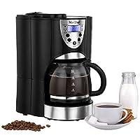 VonShef Digital Filter Coffee Maker with Integrated Grinder
