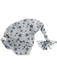 Playshoes Kinder Zipfelmütze aus Fleece, softe und atmungsaktive Schlupfmütze mit Klettverschluss, mit Sternen-Muster