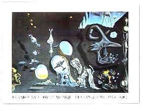 Toile 'Idylle Atomique Et Uranique Melancolique' par Salvador Dali - Taille de l'image L 53 cm x H 39 cm