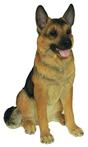 Vivid Arts - Dekofigur, Modell sitzender Schäferhund, aus Kunstharz -