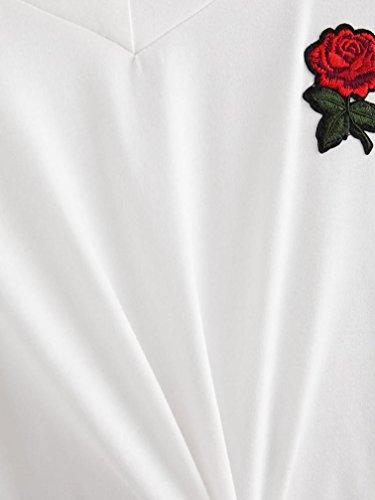 Tefamore Sweat à Capuche à Manches Longues Pour Femme Blanc