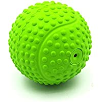 POPETPOP Pelota para Perros Juguete para Mascotas Caucho Squeaker Goma Béisbol Juguete Chew Juguete Masticadores agresivos para Cachorros Perros Grandes (Verde)