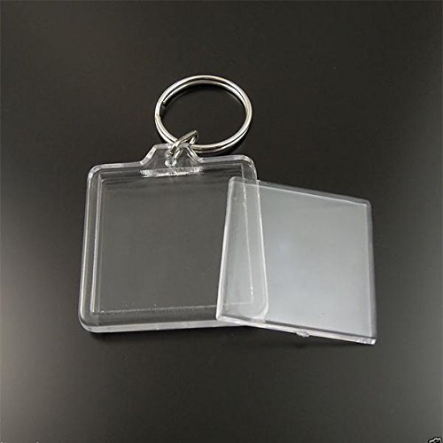 Lot de porte clé clés photo transparent - Lot de 2