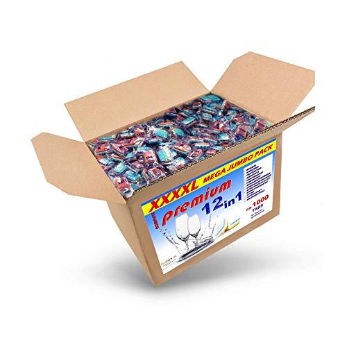 20 kg (ca.1000 Stück) Spülmaschinentabs 12 in 1 in normaler Folie, BRUCHWARE, Qualitätsware für jede Spülmaschine geeignet, Geschirrspültabs, Spültabs