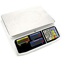 PrimeMatik - Balanza mostrador de sobremesa con Bandeja de 300x205 mm Báscula de Tienda de 15