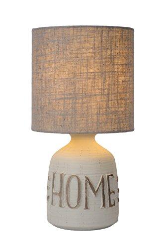 Lucide Cosby - Tischlampe - Durchmesser 16,5 cm Keramik E14, 40 W, Grey 1 x 1 x 32.5 cm