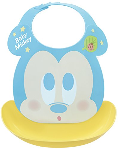 Baby Mickey First grembiule Eat Spill cattura pasto bavaglino (Japan Import)