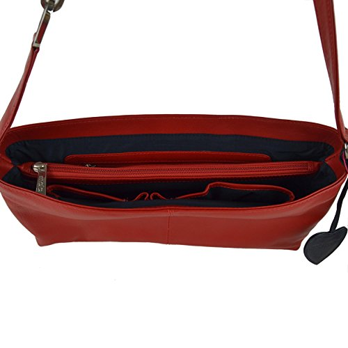 Mala Leather , Sac à main pour femme Rouge morado rojo