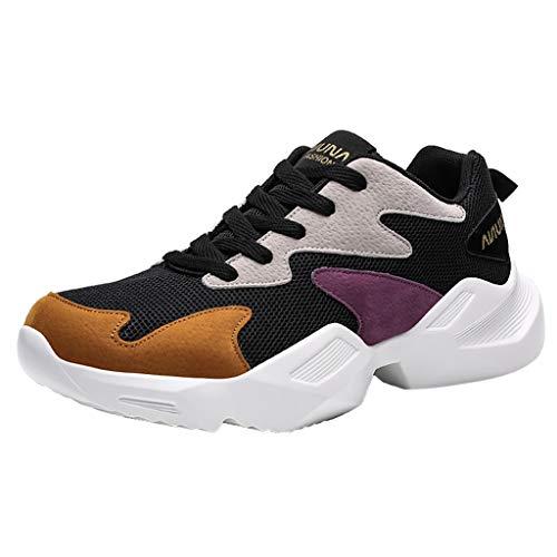 MISSQQUomo Scarpe da Ginnastica Sportive Sneakers Estive Mesh Casual Trekking Running Basse da Fitness all'Aperto