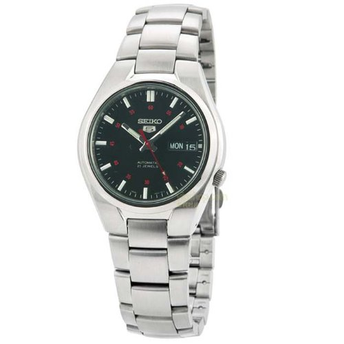 Seiko Herren Analog Automatik Uhr mit Edelstahl Armband SNK617K1