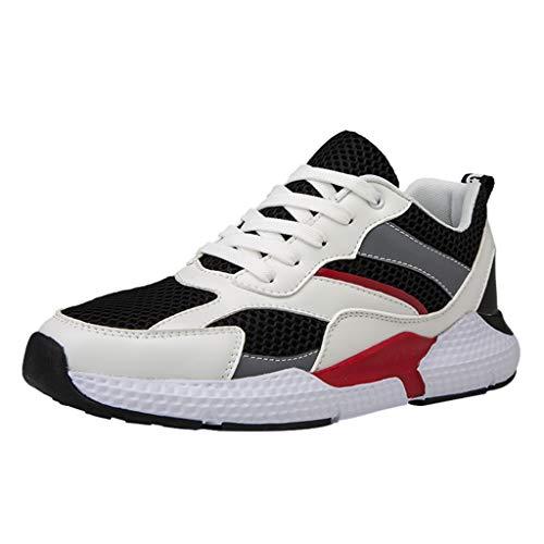 friendGG Herren Mesh Freizeitschuhe Leichte Bequeme rutschfeste Turnschuhe Atmungsaktiv Sportschuhen Sneakers Laufschuhe Reiseschuhen Turnschuhe Outdoor Running Schuhe (Garcon Modell)