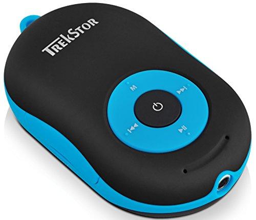 TREKSTOR i.Beat Soundboxx, multifunktioneller MP3-Player und Bluetooth-Aktivlautsprecher mit Freisprechfunktion in einem Gerät schwarz/blau