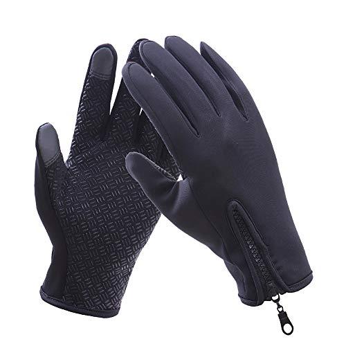 Xiaxiacp guanti uomo e donna inverno caldo esterno impermeabile antivento touch screen equitazione movimento cerniera in pile sci alpinismo,a,l