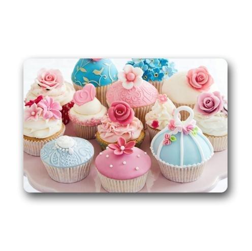 Custom Muffins formulaires Crème dessert Cupcake Intérieur/extérieur Tapis de sol Paillasson (59,9 x 39,9 cm)