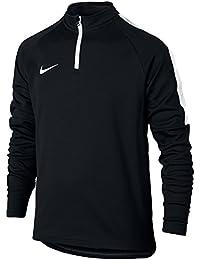Sudadera de Nike para niños 839358-010 Dry Akademy Dril, negro y blanco,