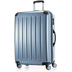 HAUPTSTADTKOFFER - Alex - Valise Rigide Grande Bagage Trolley 4 Roues, TSA, 75 cm, 119 litres, Pool Blue