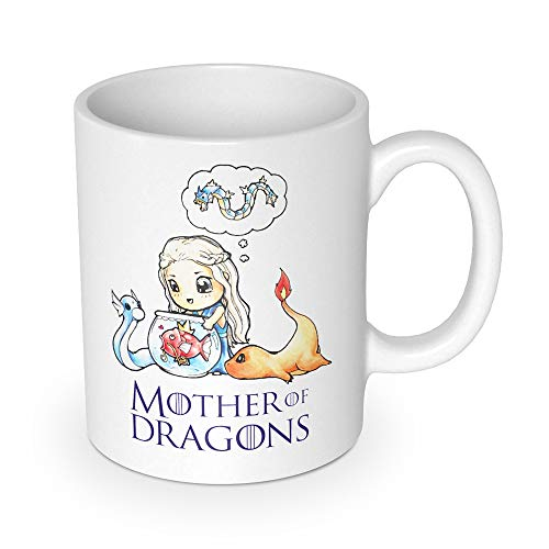 getDigital Mother of Dragons Tasse-Becher für Anime & Fantasy Serien Fans - Hochwertige Keramik Kaffeetasse als Fanartikel, weiß, 10 x 10 x 10 cm
