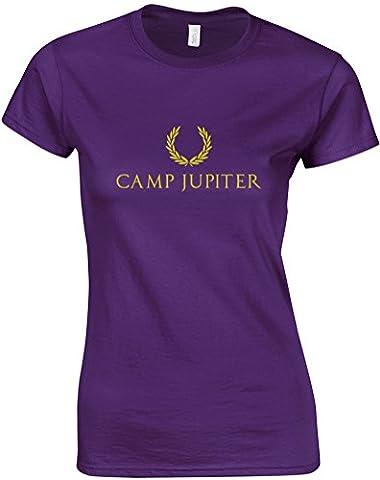 Camp Jupiter, Gedruckt Frauen T-Shirt - Lila/Gold L =