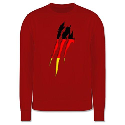 Länder - Deutschland Krallenspuren - Herren Premium Pullover Rot