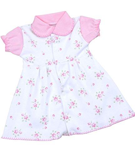 Neue Baby-mädchen-kleidung (BabyPrem Babykleidung Kleidchen Kleid Mädchen Blumen 50-56cm Baby ROSA NEUGEBOREN)