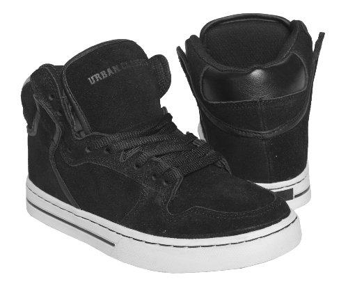Clássicos Urbanas Superiores Altas Sapatos Pretos Branco