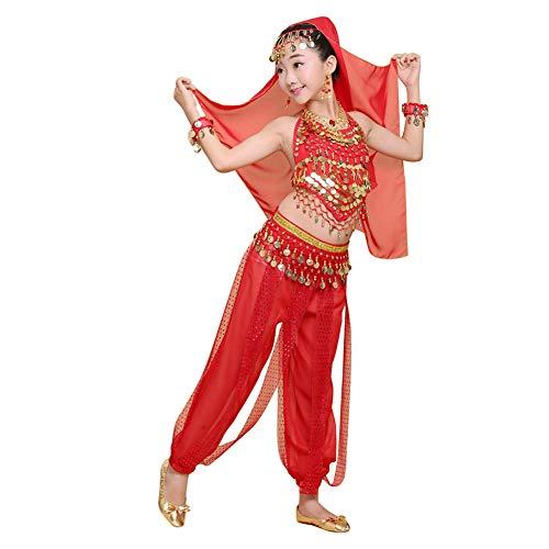 Daytwork Tanzsport Bekleidung Mädchen Röcke Kostüm - Bauchtanz Karnevalsparty Bollywood Indische Tanzkostüm Kinder Agypten Halloween Kleidung