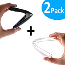 WoowCase - PACK 2   Funda Gel Flexible para [ Wiko Rainbow Up ] [ Negra + Transparente Mate ] Carcasa Case Silicona TPU Suave