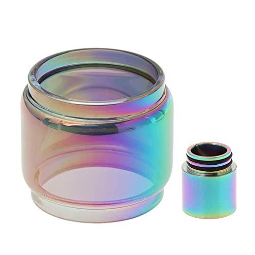Delin-wen TFV12 Prince 8ml Erweiterte Ersatzlampe Glas + Regenbogen Tropfspitze DIY Zerstäuber - Ersatzlampe Kits