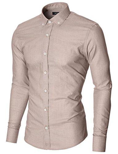 MODERNO -  Camicia classiche  - con bottoni - Con bottoni  - Maniche lunghe  - Uomo Beige