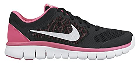 Nike Laufschuhe Flex 2015 Run (GS) Damen black-white-pink pow (724992-001),