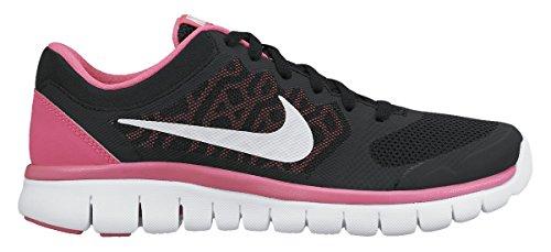 Nike Flex 2015 Rn (Gs), Baskets Basses Mixte Enfant Black/Pink/White