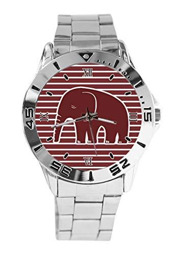 Reloj de Pulsera analógico con diseño de Elefantes y Lunares, de Cuarzo,...