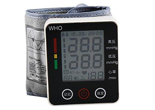 XIXI Esfigmomanómetro electrónico para el hogar Esfigmomanómetro de la muñeca Monitor Anciano Mareo Hipertensión Pulso cardiaco Medida Cuidado de la salud