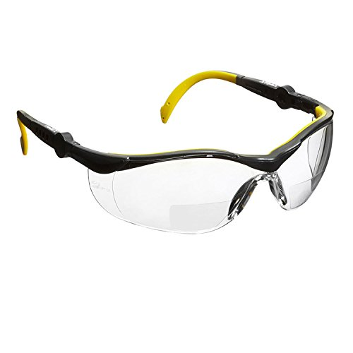 voltX GT Adjustable Bifokale Lesen Schutzbrille (KLAR +2.5 Dioptrie), CE EN166FT Zertifiziert, Anti-Beschlag Beschichtung. Bifocal Safety Glasses