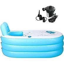 Tinksky portátil plegable PVC spawanne adultos bañera hinchable con bomba