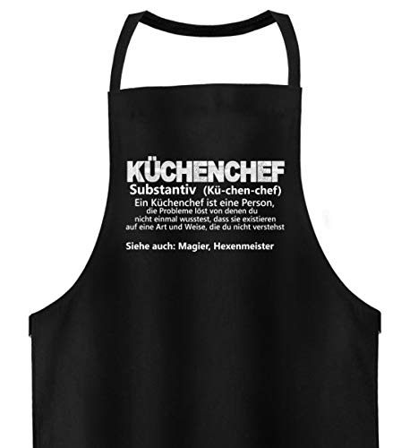 Shirtee Küchenchef - Lexika - Hochwertige Grillschürze