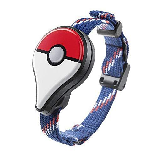 Pulsera USB Cargador Base Inteligente Pulsera Cargador Recargable Litio Batería para Pokémon Go Plus - Negro, Free Size