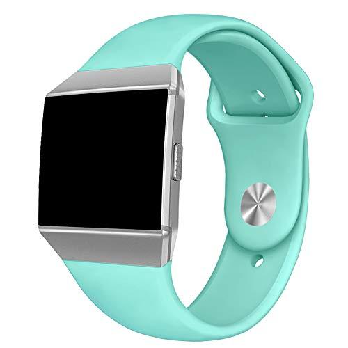 Kmasic Kompatibles Fitbit Ionic Armband, Weich Silikon Sport Gurt Zubehör Atmungsaktive Ersatz-Armbänder für Fitbit Ionic Smart Watch, Frauen Männer, Klein, Petrol