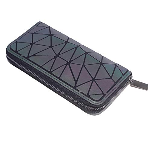 Geometrische Lange Brieftasche und Geldbörse - Mode Leuchtend Gitter Postleitzahl Geldbörse Brieftaschen für Damen NO.2 -