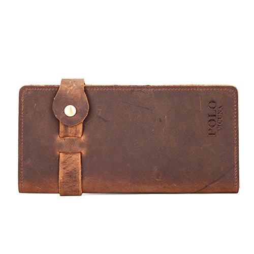 Lange Geldbörsen Für Männer Aus Echtem Leder Geld Clip Karte Tasche