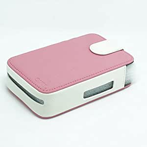 [LG PD233 Pocket Photo Housse imprimante]- CAIUL cuir synthétique protection exclusive pour LG PD233 prime saison 3 (suivi des photos à pochettes de PD233)-Rose